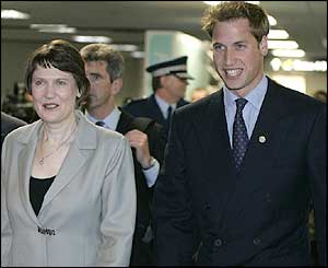 New Zealand Prime Minister Helen Clark with Prince William