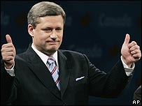 Stephen Harper, primer ministro electo de Canad�.