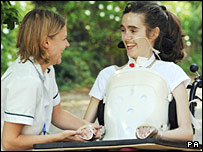 Abigail Witchalls with occupational therapist Emma Linley