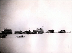 Trans-Antarctic Expedition pictured from Scott Base
