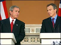 George W Bush, Tony Blair