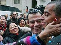 Ceremonia de unión civil entre gays