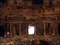 Saddam bunker entrance