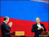 Vladimir Putin y Robert Kocharyan