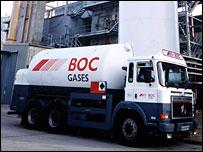 BOC gases truck