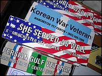 Bumper stickers at the Manchester, New Hampshire, Vet Center