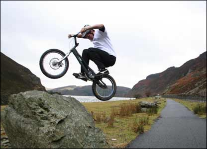 Mat Hudson took this shot of his friend Mark Westlake at the Elan Valley, near Rhayader in mid Wales