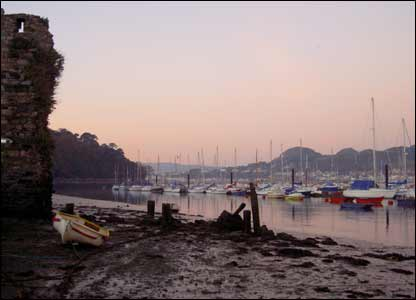 This view of a lonely boat at Conwy harbour was sent in by Angela Houghton from Chicago