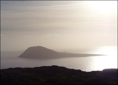 A view of Ynys Enlli off the coast of the Lleyn peninsula (Aled Evans, Caernarfon)