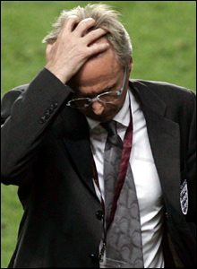 Sven-Goran Eriksson following England's exit from Euro 2004