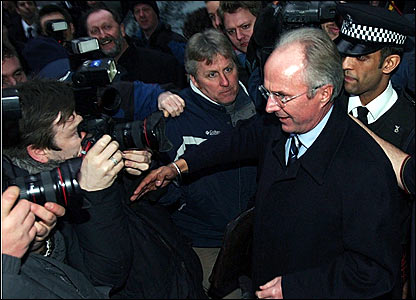 Sven-Goran Eriksson leaves the FA after a meeting