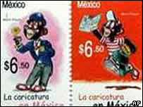 Stamps depicting Memin Pinguin
