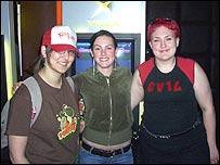 Three UK PMS girls at the recent 'trueplayerz' charity gaming event in London