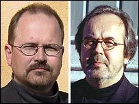 Architects Ilmari Lahdelma (l) and Rainer Mahlamaki