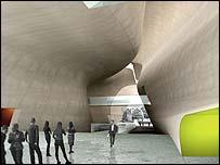 Architects' impression of the entrance hall (pic: Architects Lahdelma & Mahlamaki))