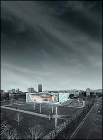 Architects' impression of the museum (pic: Architects Lahdelma & Mahlamaki)
