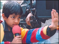 Master Kishan directing a shot