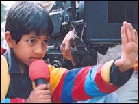 Master Kishan directing a shot