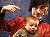 Danny Robins and baby