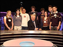 David Dimbleby and student producers