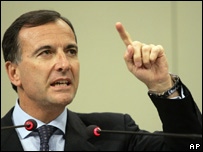 Franco Frattini, comisario de Justicia y Seguridad de la Unión Europea