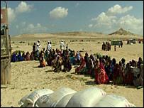Entrega de alimentos en Somalia