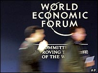 Delegates arriving at the World Economic Forum in Davos