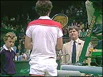 John McEnroe and Alan Mills in 1983