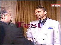 Still taken from Iraqi TV test transmission