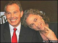 Tony Blair and Bob Geldof on MTV
