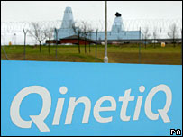 Qinetiq at Portsdown Hill near Portsmouth