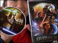 Pirated DVDs of Star Wars Episode III, AFP/Getty