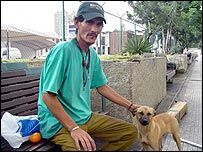 Carlos, one of the homeless people of Caracas