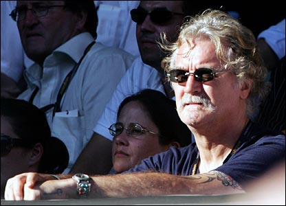 Billy Connolly watches the Australian Open in Melbourne in Wednesday