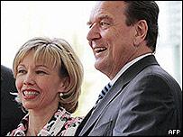 Doris Schroeder-Kopf with Gerhard Schroeder