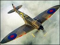 A spitfire in flight