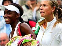 Venus Williams and Maria Sharapova