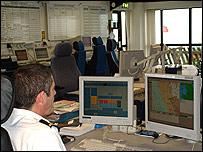 The control room at HM Coastguard in Crosby