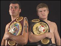 Joe Calzaghe and Ricky Hatton