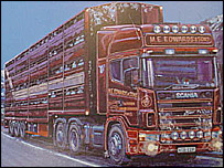 A Scania truck driving through Wales - picture: Roadscapes