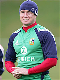 Lions wing Shane Williams looks relaxed in training ahead of the second Test
