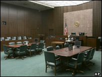 Judge Lake's courtroom