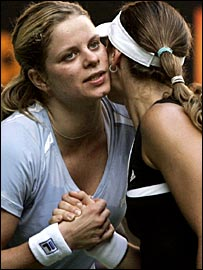 Kim Clijsters and Martina Hingis