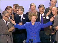 Lady Thatcher and cabinet colleagues