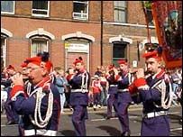 Bandsmen on parade
