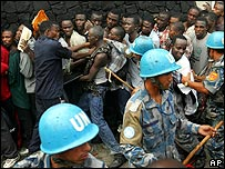 Liberia recruits queue