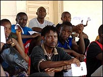 Liberian army recruits