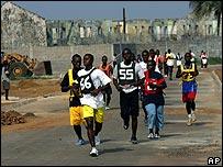 Recruits running