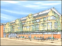Dumfries leisure centre - courtesy WM Saunders Partnership for Kier Northern