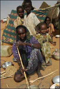 Women and children displaced by the violence in Darfur (Photo: Salah Omar/AFP/Getty Images)